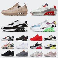 Nike Air Max Mirmax 90 Off White 90s الاحذية المهنية أحذية رجالي إمرأة الرياضة أحذية كبيرة الحجم الولايات المتحدة 12 بارد رمادي unc الوردي الأبيض الأسود الرجال المدربين EUR 36-46