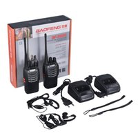 Walkie Talkie Baofeng BF-888S 2 قطع VHF / UHF المحمولة FM الإرسال والاستقبال قابلة للشحن اثنين من الحواس 5W 2-Way هام راديو comunicador euplu
