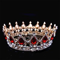 Alloy Bride Crown Hair Accessories Biger Circular Ornaments Electroplating Thick Silver Crystal Crowns Princess Accessorie 29 5by Y2