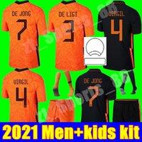 Memphis 2021 Países Baixos Futebol Jerseys Meninos Holanda de Ligt Strootman Van Dijk Virgil Adulto Men + Kid Kit Criança Jovem Football Camisa