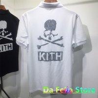 KITH T-Shirt Mastermind Japonya Tee 2021 Yaz Erkek Kadın Yansıtıcı Rhinestone Kafatası Mastermind Dünyası MMJ Kısa Kollu C0228 Tops