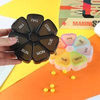 Flower Shape Pill Case Plastic 7 Days Tablet Candy Box Portable Storage Holder Travel Organizer Medicine Dispenser Container