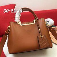 Luxo Designer Bolsa de couro mão moda moda bolsa de ombro vestido de noite saco de mão de alta qualidade bolsa de bolsa de negócios 66152