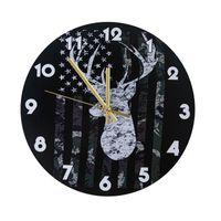 NOUVEAU Horloge murale moderne ART Personnalité américaine Salon horloges Homes de bureau école Vintage décor EWD6220