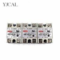 60 80 100AA مرحلة واحدة الصلبة الدولة التحكم تحكم AC Relais 80-250 إلى 24 فولت 380VAC SSR