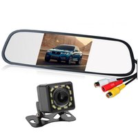 Car Video HD Auto Parking Monitor LED Night Vision Reversing CCD Rear View Camera With 4.3 Inch Rearview Mirror