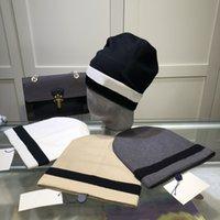 Moda uomo Beanie Maglia Cappelli da donna Sport Lettera Sport Pattern Skull Caps Inverno Lana Cap Casual Due stili