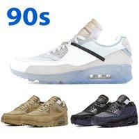 90 Chaussures de course pour hommes du désert Mens de course Noir Blanc Sports Baskets 90s Mode Hommes Femmes Sneakers Chaussures en plein air avec tag US 7-11