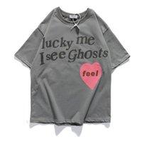I et moi Summer Me Homme Voir les chanceux fantômes lâche le couple designer T-shirt chemise Hommes pour femmes T-shirt respirant Hip Hop Streetwear Tees Skno