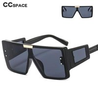 Sunglasses 46661 Wide Mirror Legs One-Piece Large Frame For Men And Women Fashion Brand Designer Sunshade Uv400 Retro Glasses