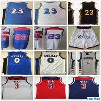 NCAA Washington Bradley 3 Beal 4 Westbrook Formalar Gri Kırmızı Mavi Beyaz # 23 Ucuz Retro Vintage Gilbert 0 Arenas Sihirbazı Basketbol Forması