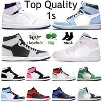 Nike Air Jordan Retro 1 Jumpman 1 1s Herren Damen Basketballschuhe High OG Court Lila University Blau Mid Shadow Obsidian Barely Rose Trainer Sport Sneakers