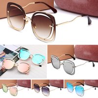 Unisex Eyewear Sunglasses Mirror Cases Gold Flash Glass Mens Bo Lens Designer For Round Sun Glasse With Metal And Wome Iilhf