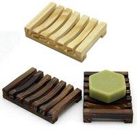 Scatola sapone sapone in legno Scatole sapone rack di sapone in legno carbone di carbone sapone porta vassoio bagno doccia stoccaggio supporto piatto supporto wwa196