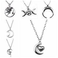 Summer Gift 1Pcs Moon Angel Pendant Women Necklace 43+5Cm Chains