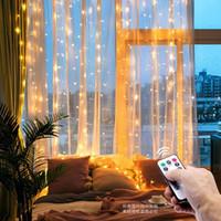 3M LED Christmas Fairy Fairy Luzes Controle Remoto USB Ano Novo Garland Lâmpada de Cortina Decoração do feriado para a janela do quarto em casa