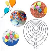 Воздушные шары металлические режущие уплотнения трафарета вырезать скрапбукинг ремесло марки из прочных материалов и уникальный дизайн