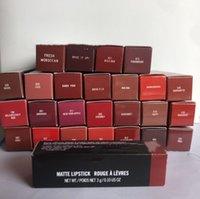 Marke Lippenstift Frauen Männer Matte Rouge Ein Levres Aluminium Rohr Glanz 29 Farben Lippenstifte mit Seriennummer Russische rote Spitzenqualität