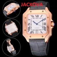 Mens Fashion Mechanical Automatical Watches DAYDATE President square roman dial designer rose gold Watch man Sapphire WristWatches Super luminous montre de luxe