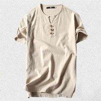 Men's T Shirts Plus Size 5XL 6XL 8XL 9XL large Oversized Linen Short Sleeve ee Male Summer Men -shirt Big 210726