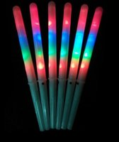 Party Supplies Colorful LED Sticks Glow Light up Floss Stick for Christmas Birthday Party Prop Flashing Sticks dff2001