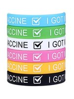 Silicone Vaccinated Wristbands Got Vaccination Jelly Decorative Bracelets Encouraged Public Health Elastic