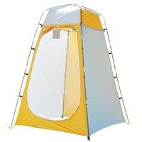 Tentes et refuges imperméables à la vie privée UV Protection UV Tente de toilette Voyage Plage Portable Douche extérieure Vélo Respirant Quick Mise en place changer