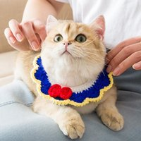 Dog Collars & Leashes Handmade Wool Knitted Cat Collar Short Cute Kitten Pet Accessories Necklace