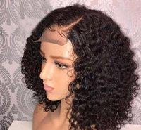 2021 kadın orta-uzun peruk avrupa, amerika ve afrika ön dantel küçük kıvırcık peruk ambalaj tüp curl seti