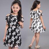 فتاة في سن المراهقة الصيف الأطفال اللباس ملابس الاطفال زهرة الشيفون الأميرة للأمر 7 8 9 10 11 12 سنة