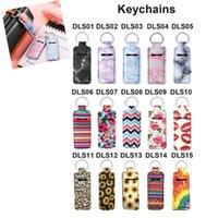 New Styles Neoprene Chapstick Keychain Lipstick Holder The Best Gift for Birthday Christmas Valentine's Day 15 Styles