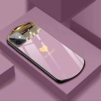 새로운 패션 사랑 하트 미러 전화 케이스 아이폰 11 12 프로 최대 x XS 7 8 플러스 럭셔리 강화 유리 하드 백 커버