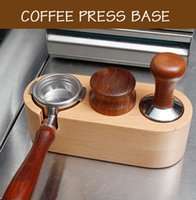 51 / 58mm manual de madeira de madeira tamper titular tapete Barista café espresso violento latte arte caneta adulterar titular home café acessório 210309