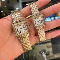 Top Hommes Montres Quartz Regarder 27 ou 22mm Bezel Diamond Bezel Imperméable Bracelet Entreprises Montre de Luxe Couple