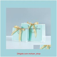 Wrap Event Festive Supplies Home & Gardenclothing Cosmetic Shopping Birthday Packaging Bog Paper Bag Party Wedding Gift Wrapping With Handle