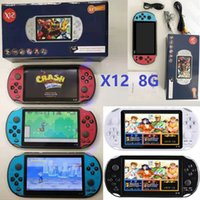 X12 Handheld Game Players 8GB Memory Portable Video Game Consoles with 5.1 inch Color Screen Support TF Card 32gb MP3 MP4 Player for Unisex