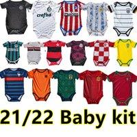 21 22 Kit de bebé Jersey de fútbol 2021 2022 Kids traje de 6 a 18 meses Niños, niños, niños, camisa de fútbol uniforme de calidad superior