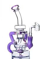 7.8 인치 Klein Recycler Bong Heady Oil rigs Biker Bong Glass Water Pipes Hookahs Shisha Chicha 14mm Banger