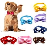 Dog Apparel Adjustable Pet Necklace Strap For Cat Collar Bow Tie Puppy Ties Kitten Grooming Stuff Supplies Accessories