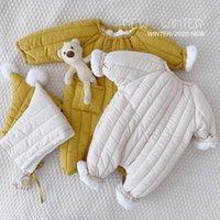 Jumpsuits Born Baby Jumpsuit Plus Velvet Warm Boys Snowsuit Toddler Snow Suit Girl Cotton Overalls Rompers