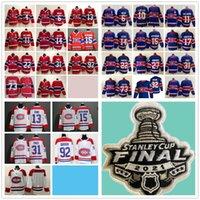 2021 Stanley Cup Final Montreal Canadiens Hockey Jersey 22 Cole Caufield Beliveau Weber Lafleur Gallagher Domi Suzuki Kotkaniemi Anderson Romanov Toffoli Drouin