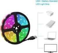 أضواء LED الإضاءة الخلفية Mingelight TV شرائط 2M RGB مع التحكم عن بعد 16 لون متعدد الألوان
