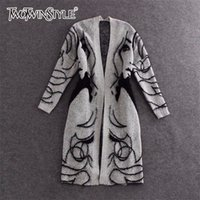 Twotwinstyle Maglione a maglia Trench Trench Coat Donne Autunno Inverno Inverno Big Size Cardigan Batwing Sleeve Femmina Jumper Cardigan LJ201112
