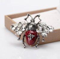 Vintage Böcek Arı Broşlar Pines Moda Takı Yaka Pin Metal Böcek Broşlar Ziyafet Broche Hediye Şapka Eşarp Yaka Manşet Pimleri PS1013