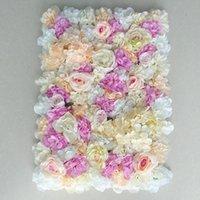 Decorative Flowers & Wreaths 1pcs Artificial Flower Wall 3D Wedding Background Decoration Lawn Pillar Road Lead Arch Silk Rose Hydrangea Whi