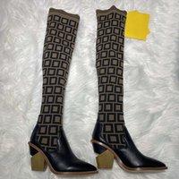 Hiver Hot Selling Mode De luxe Designer Bottes Bottes Flip Cuir chaud 35-41 Chaussures de boîte de ceinture 008 1-9