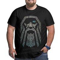 Kanpa 100 % 코 튼 바이킹 그래픽 티셔츠 큰 키 큰 남자 대형 티셔츠 플러스 사이즈 탑 티 남자 느슨한 대형 의류 210714