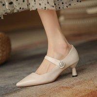 Confortable toué cuir véritable Hauts talons haut de gamme printemps printemps mode loisirs femmes talons nocturne club chaussures chaussures talon chaussures