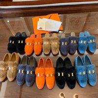 2021 Top Top Mink Zapatos de pelo Desiner Invierno Deslizadores de peluche interior HOTEL INTERIOR HOTEL CALIENTE Sandalias de piel de zorro para mujeres Diapositivas Calidad con caja Tamaño 34-40