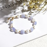 Natural Stone Crystal Bracelet Women Pearl Pink Crystal Temperament Charm Bracelets Girl Gifts Fashion Accessories Jewelry 994 B3